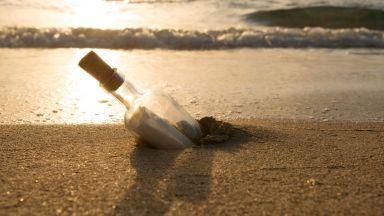 Писмо в бутилка преплува морето от Ню Джърси до Нюфаундленд