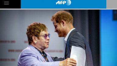 Елтън Джон и принц Хари: Ще се борим заедно срещу разпространението на СПИН сред мъжете