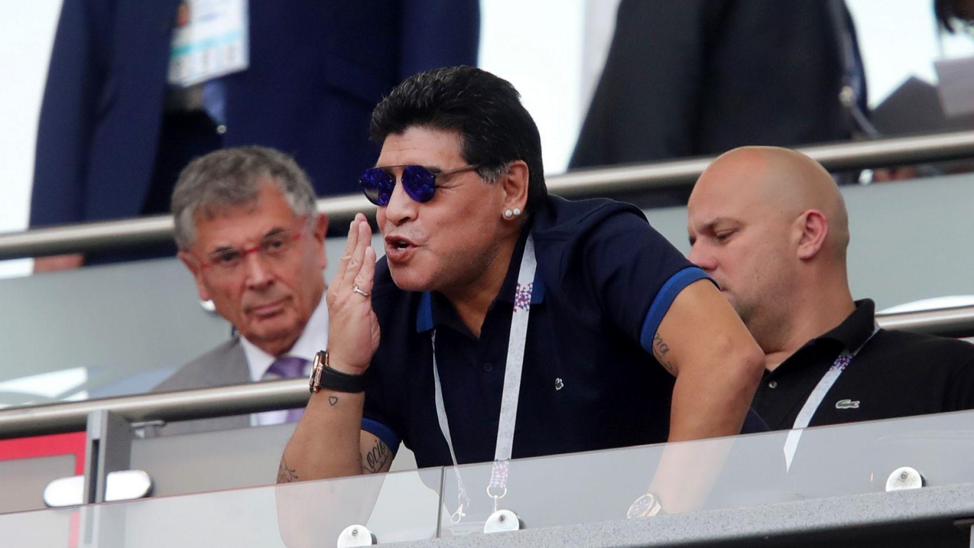 Марадона с нова пиянска изцепка (видео)