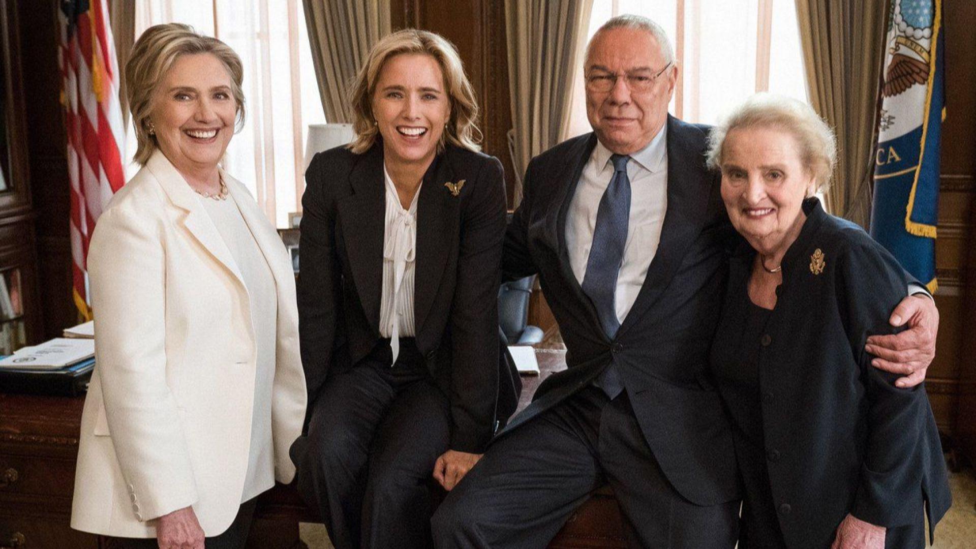 Хилари Клинтън, Мадлин Олбрайт и Колин Пауъл се снимаха в ТВ сериал