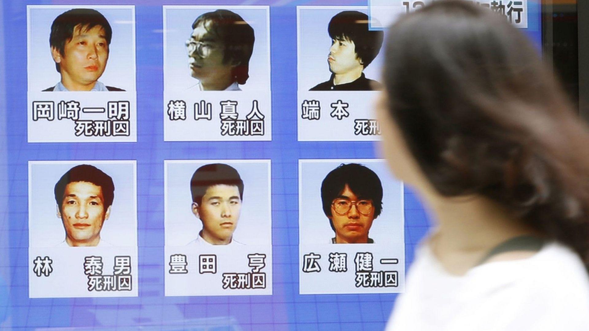 Обесиха и останалите шестима осъдени на смърт членове на японска секта