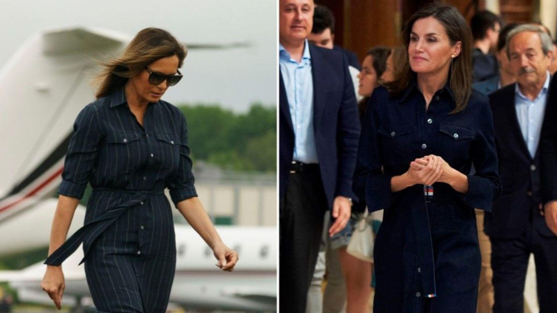 """Мелания и кралица Летисия върнаха на мода роклята тип """"риза"""" (снимки)"""