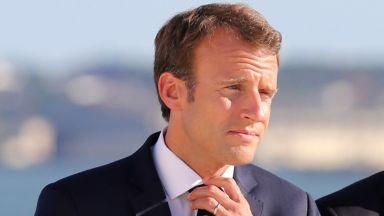Макрон предложи на йорданския крал френска помощ за сигурността по границата със Сирия