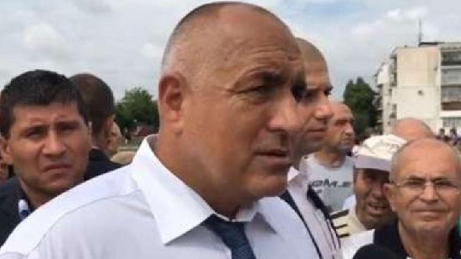 Бойко Борисов пред журналисти в Нови пазар