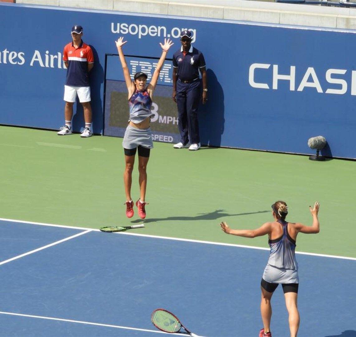На US Open 2017, триумф във финала при дуетите за девойки