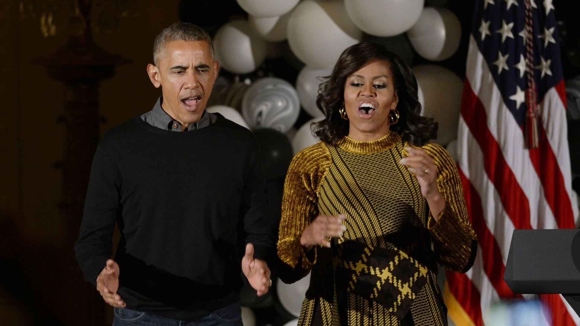 Семейство Обама във вихъра на танците на концерт на Бионсе и Джей Зи