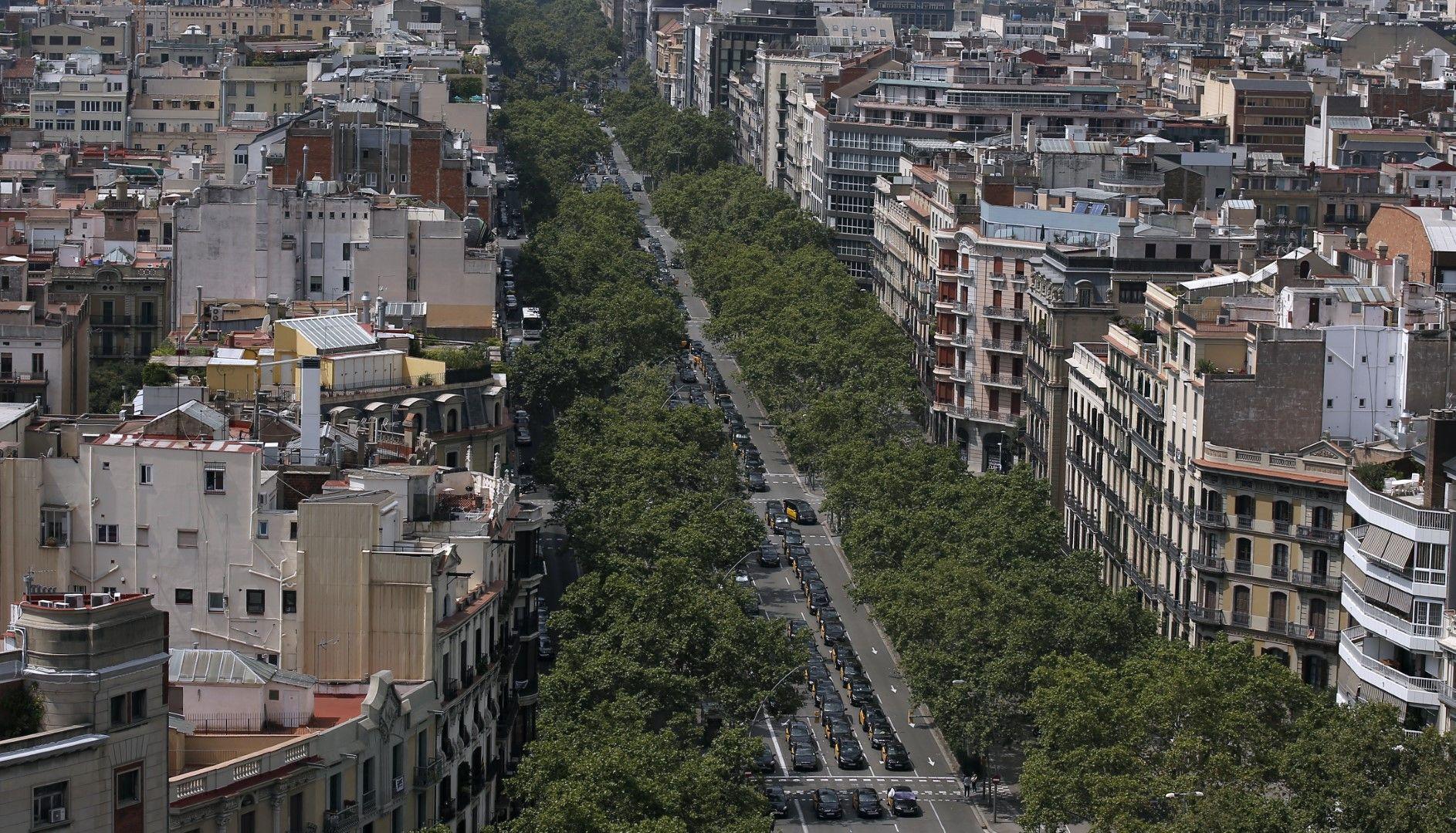 Стачка на такситата в Барселона
