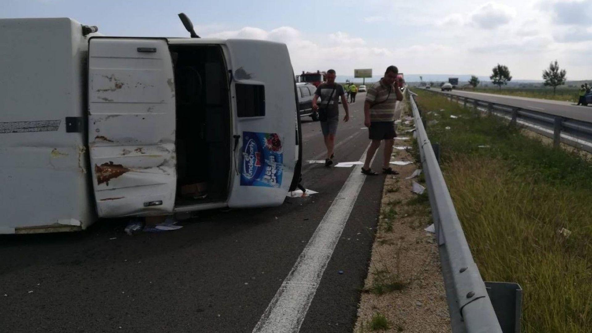 """Тежка катастрофа между джип и камион затвори """"Хемус"""" (видео+снимки)"""