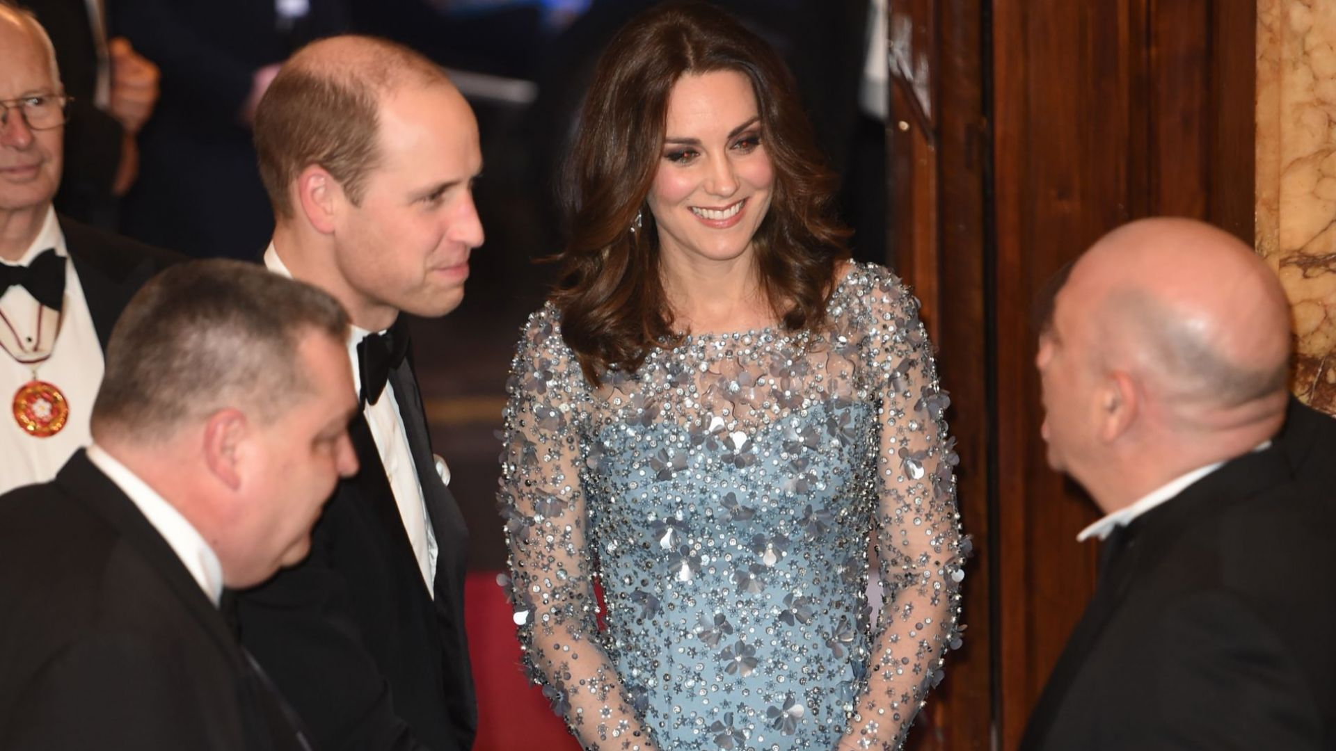 7. Катрин в Jenny Packham на Royal variety performance