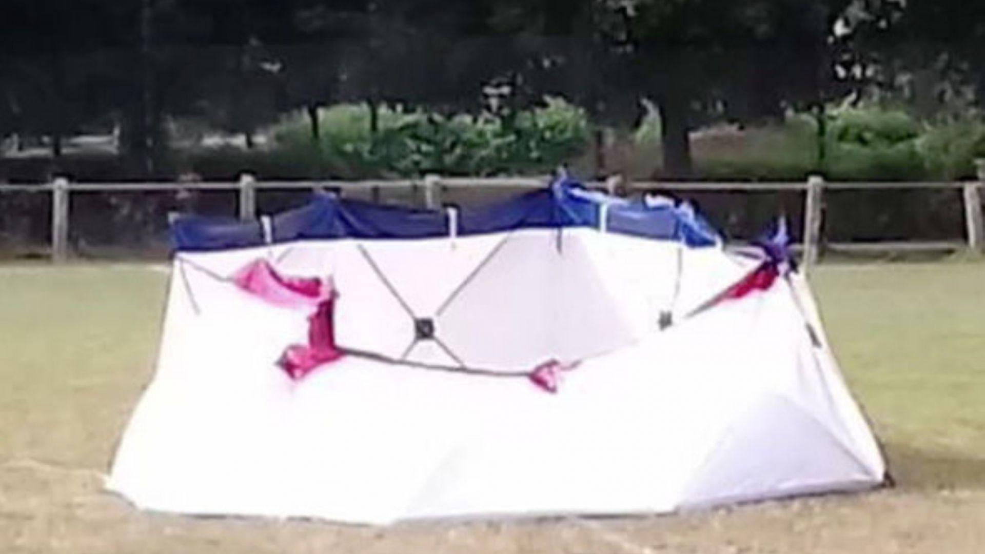 Мъж се самовзриви на игрище в Белгия (видео)