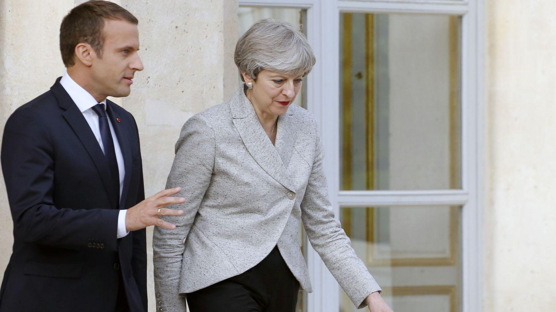 Мей срещу Макрон: Петте топ въпроса в решаващата среща за Брекзит