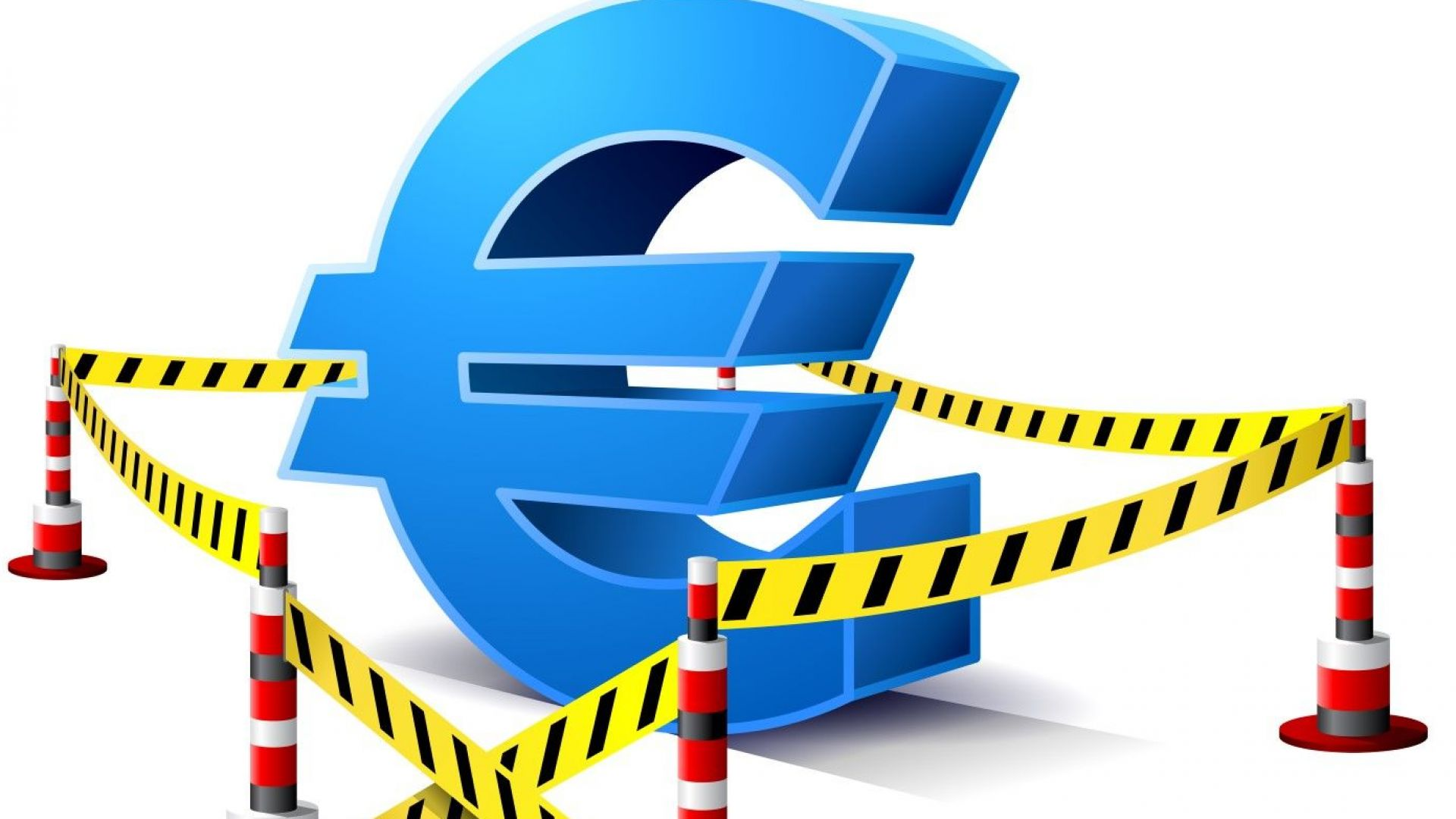 Еврото потъна до най-ниското равнище спрямо долара от една година