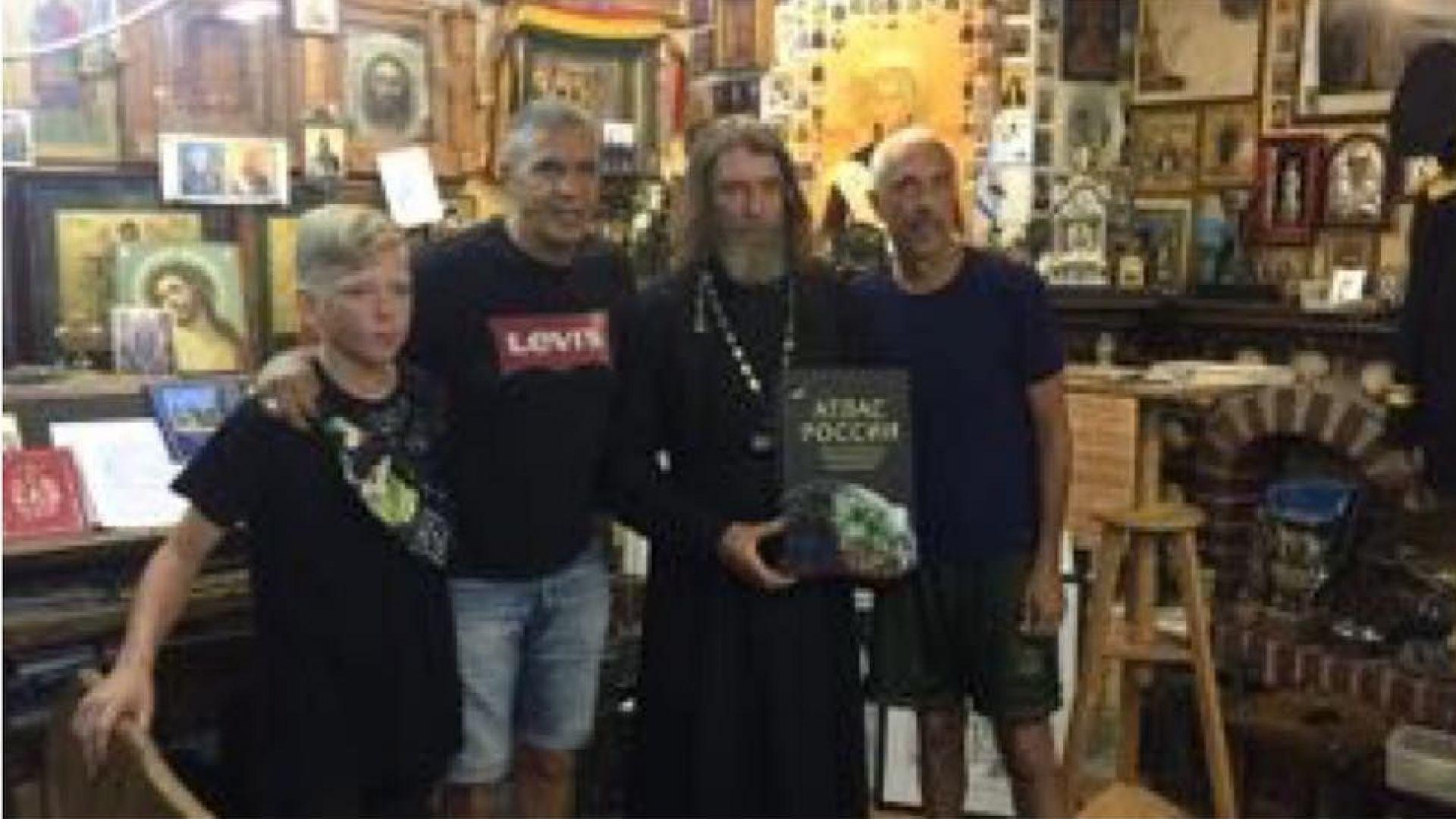 Сами Насери с брат си и Федор Конюхов