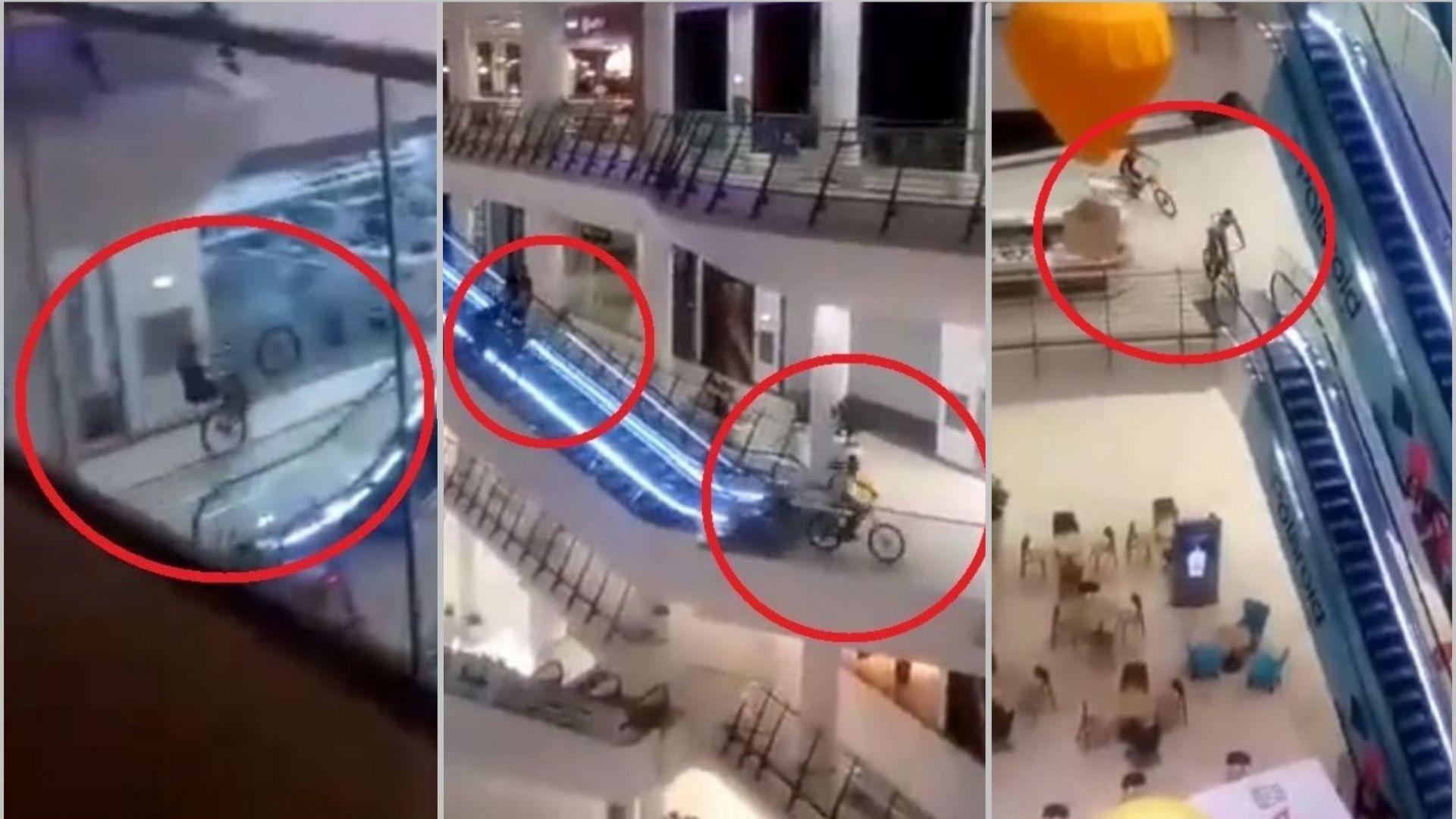 "Авантюристи на 2 колела щурмуваха мол ""България"" (видео)"