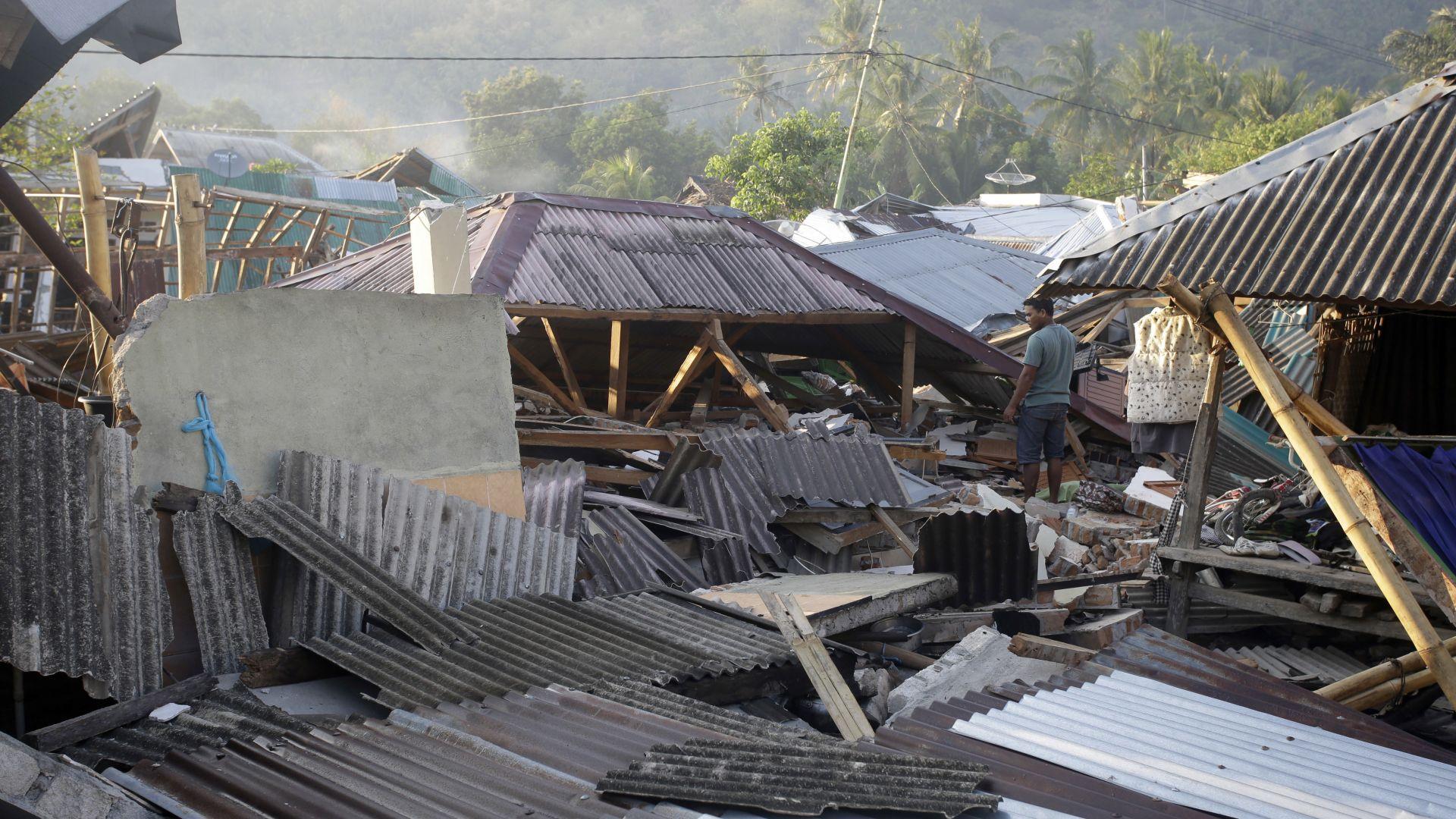 Нов трус от 6,2 по Рихтер в Ломбок, има рухнали сгради
