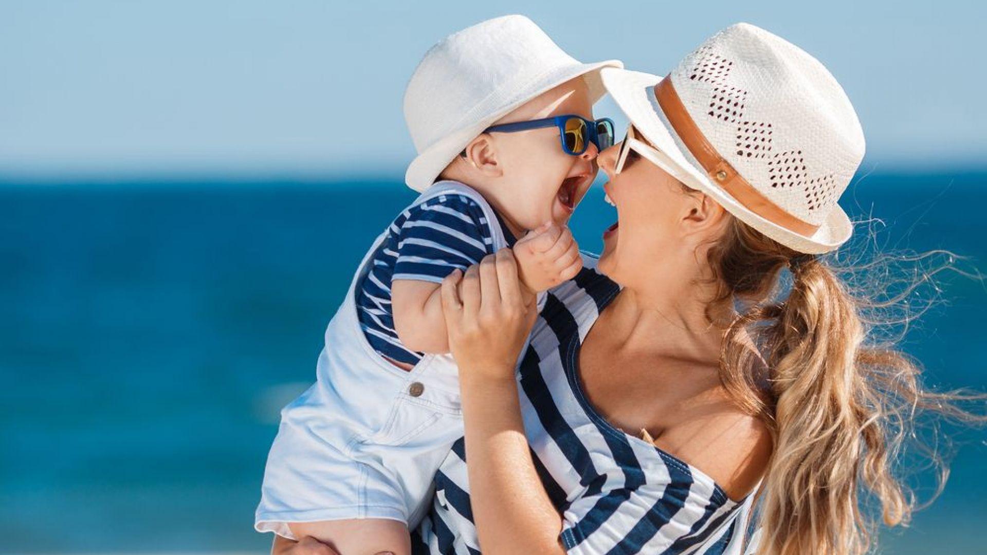 С бебе на море за първи път