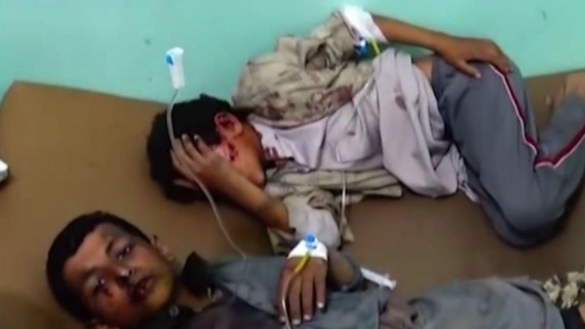 Автобусът с деца в Йемен е ударен по въздух от арабската коалиция