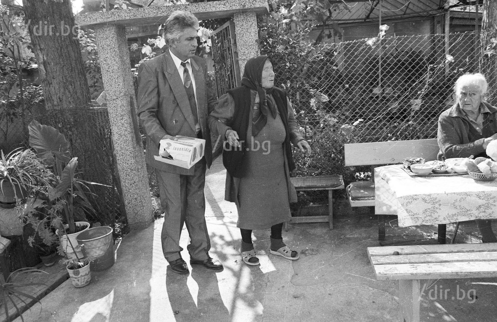 Ванга с осиновения си син Димитър Вълчев