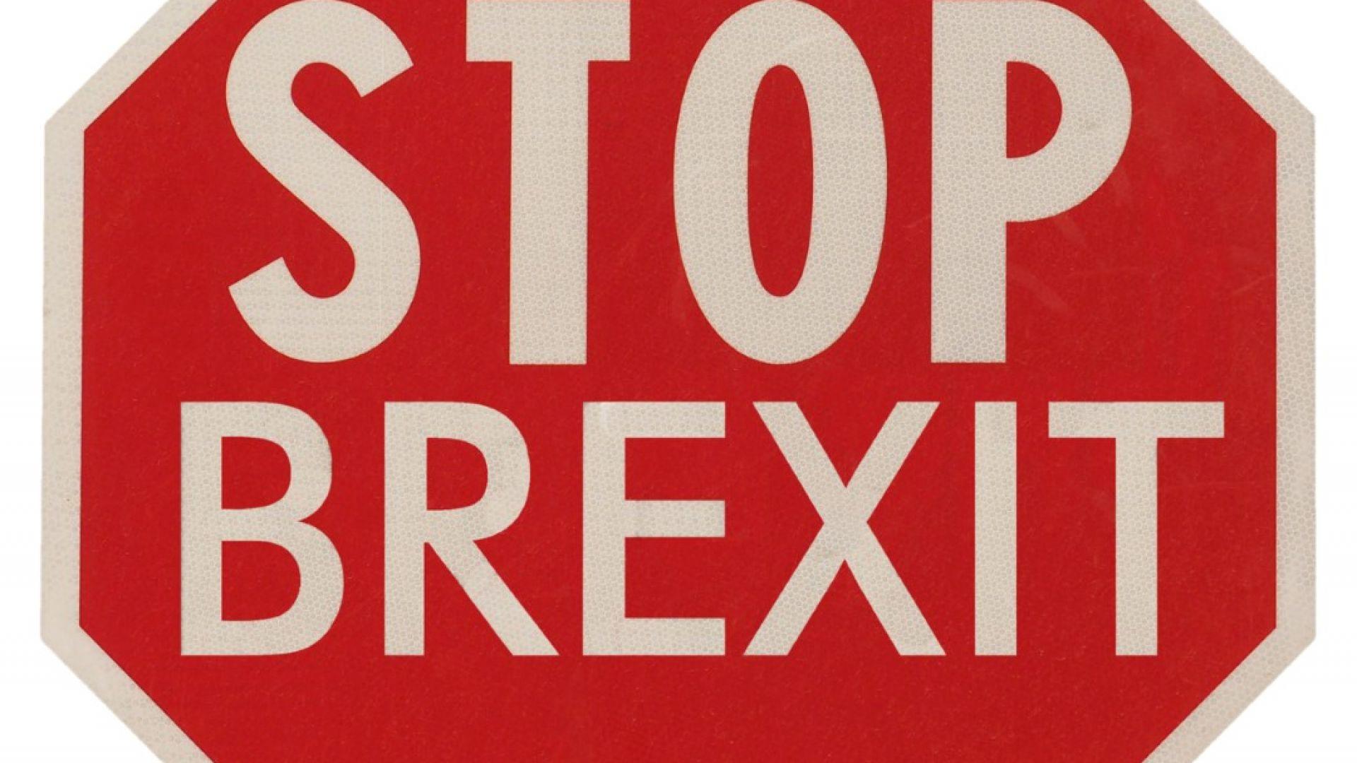 """Европейска обиколка на британец изписва по картата """"Спрете Брекзит"""""""