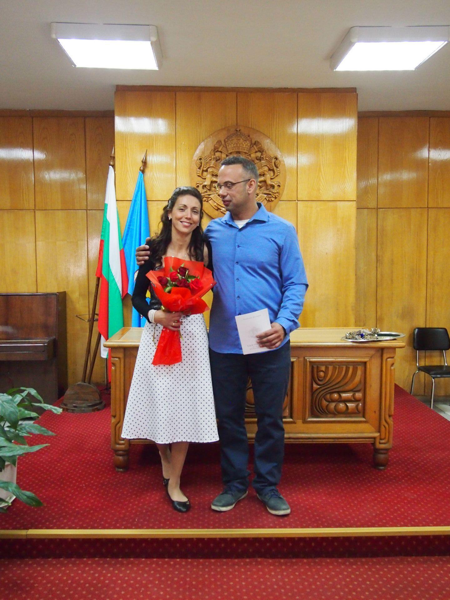 Васил и Вера след като са сключили граждански брак (Снимка: Личен архив)