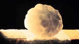 Градушка колкото топки за тенис бомбардира домашен басейн (видео)