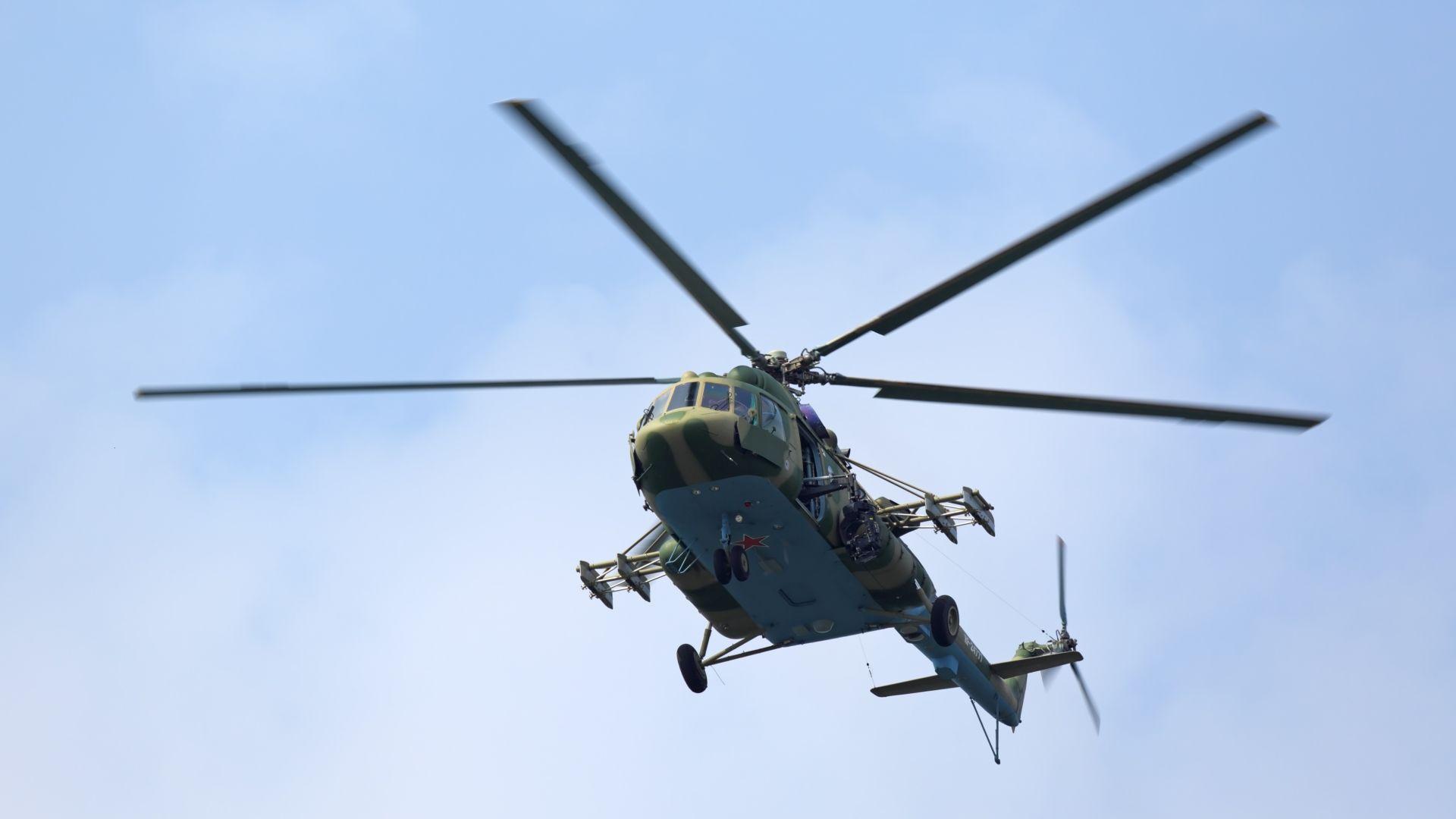Военен хеликоптер се разби в Московска област, екипажът загина