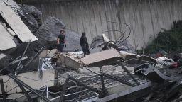 """Евакуация заради риск от ново срутване на моста """"Моранди"""" (видео)"""