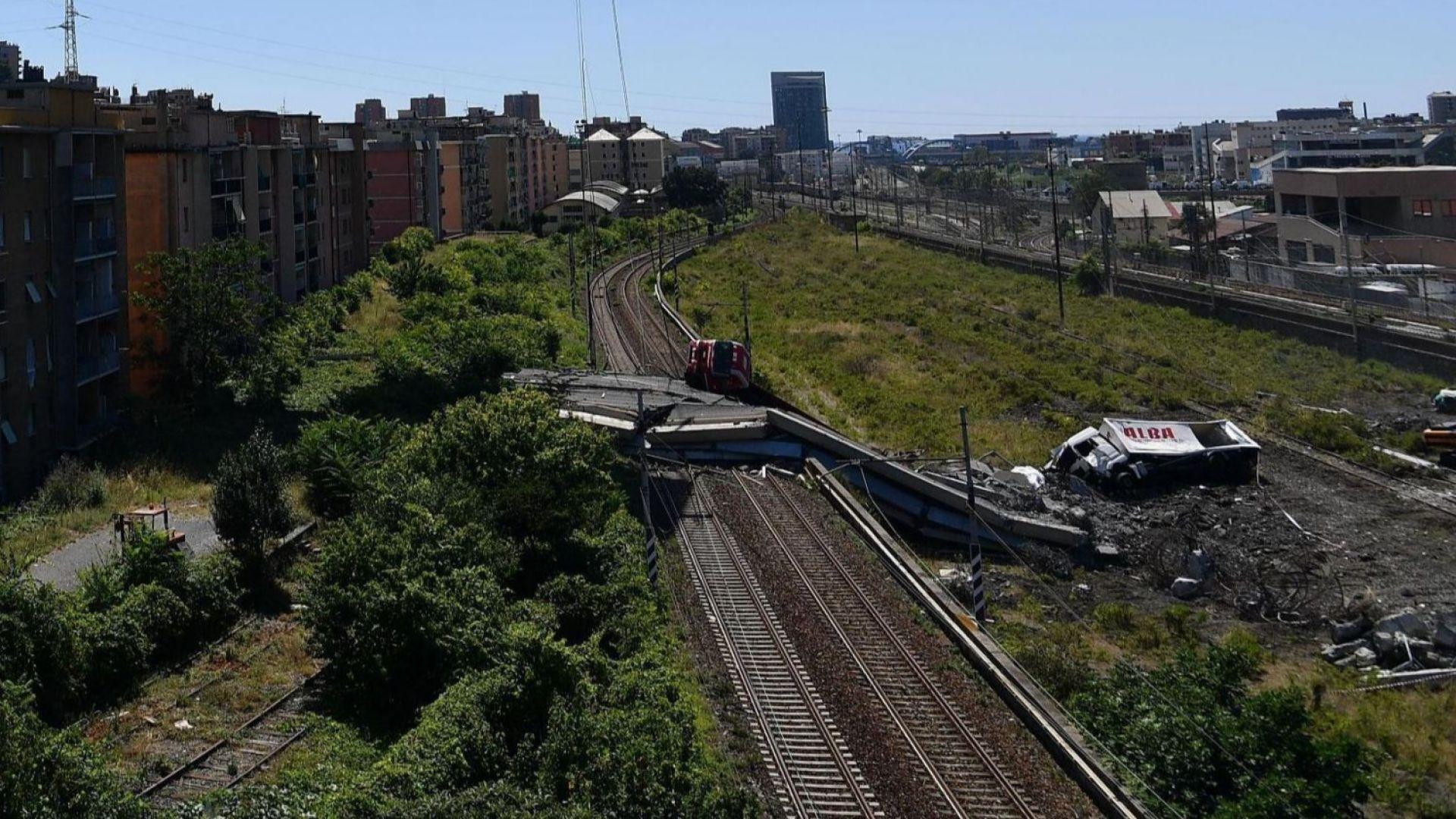 """12-месечно """"извънредно положение"""" в Генуа заради срутения мост"""