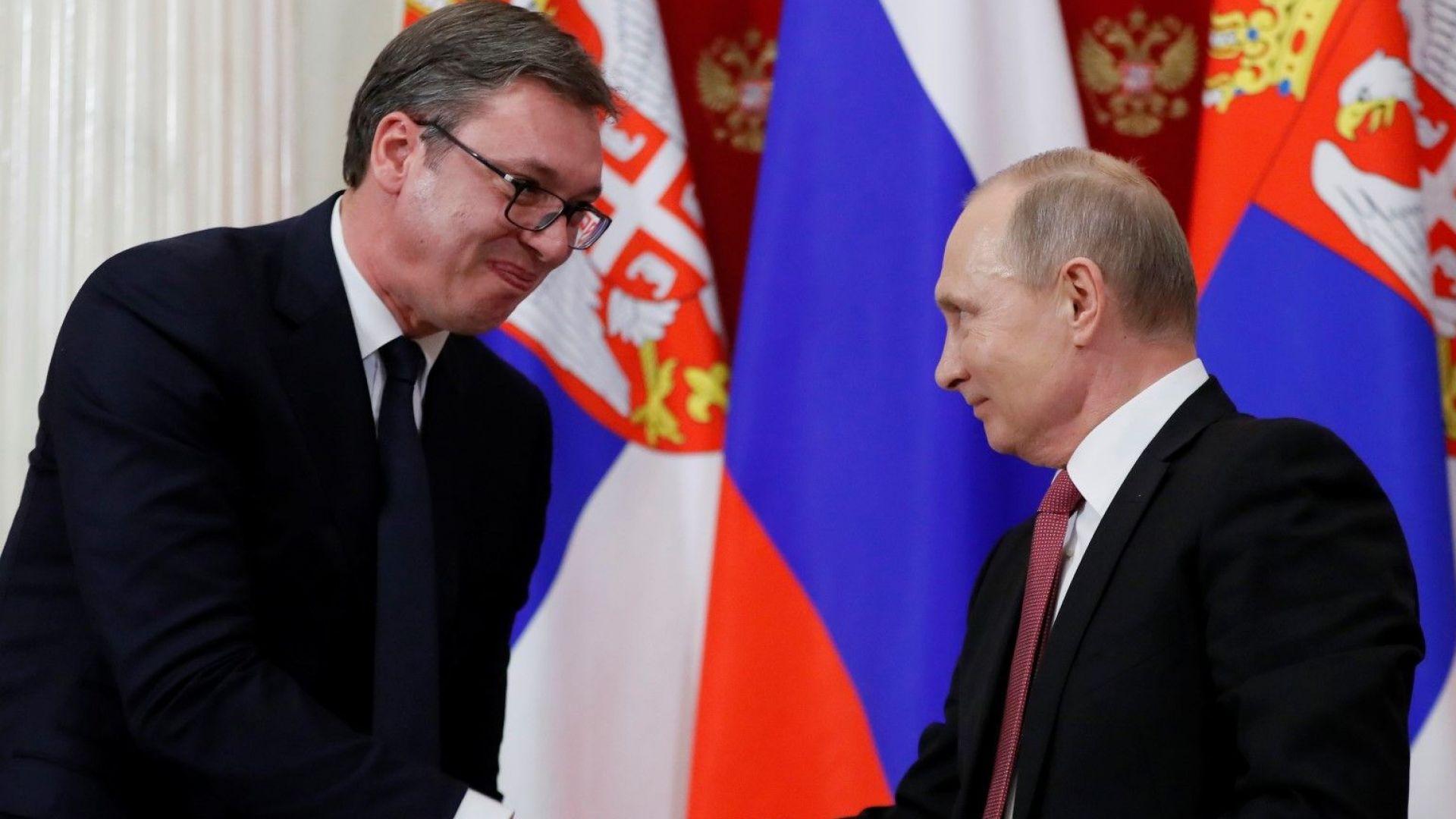 """Вучич: Най-евтин е газът на руснаците, чакам го от """"Турски поток"""" през България"""
