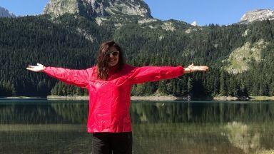 Михаела Филева на палатка от София до Виена (снимки)