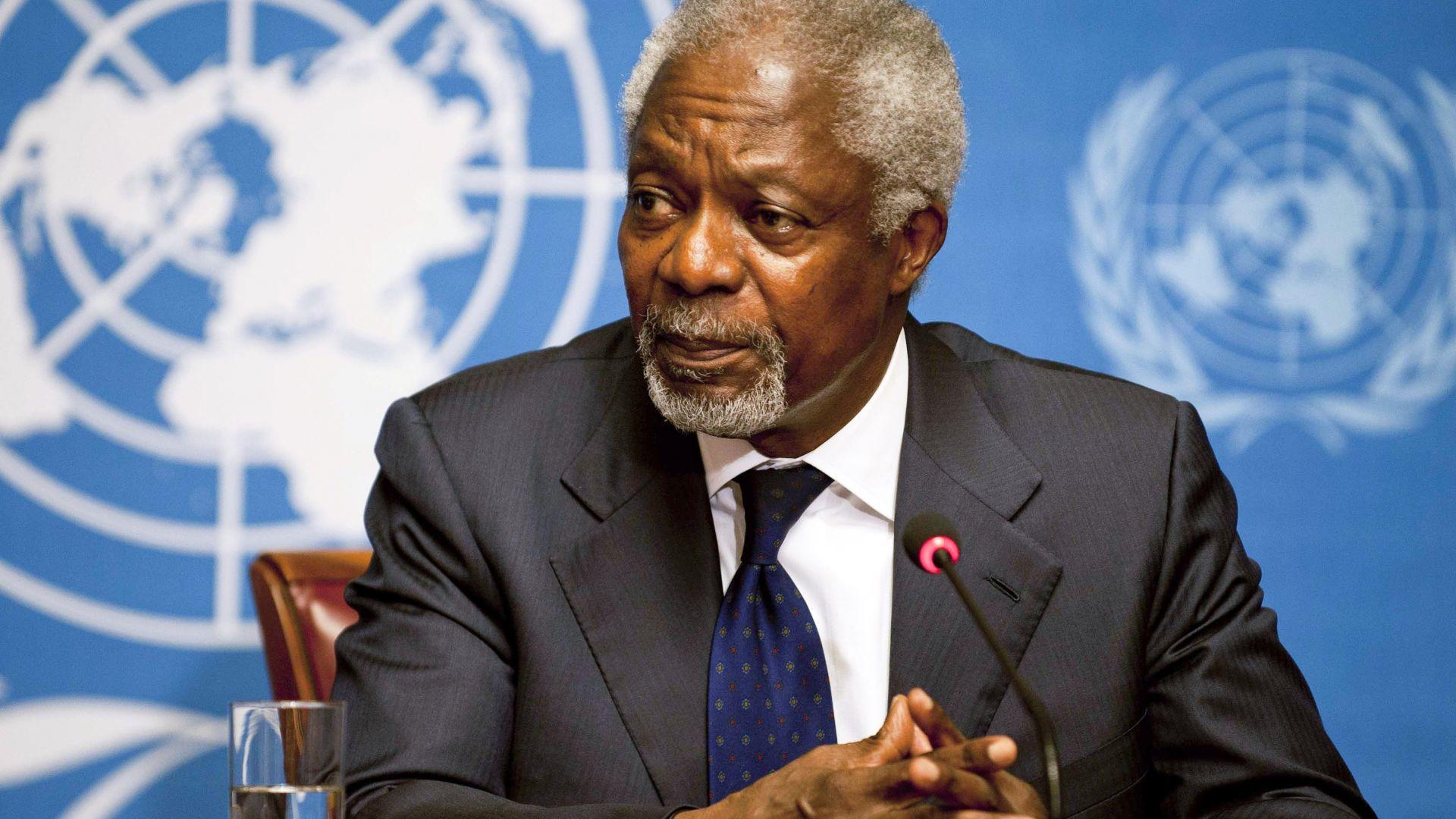 Светът скърби за Кофи Анан