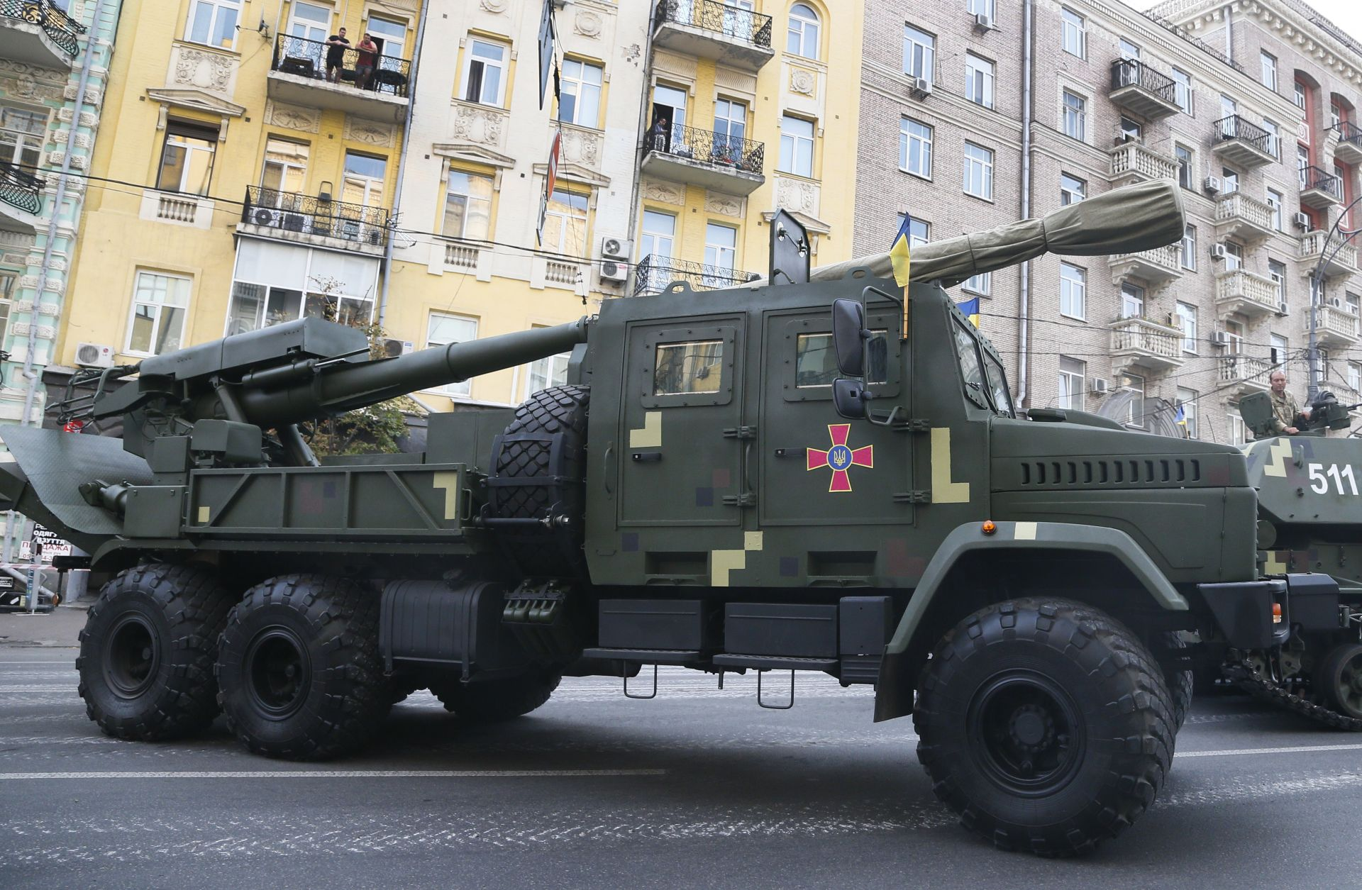 Репетиция за военния парад в Киев