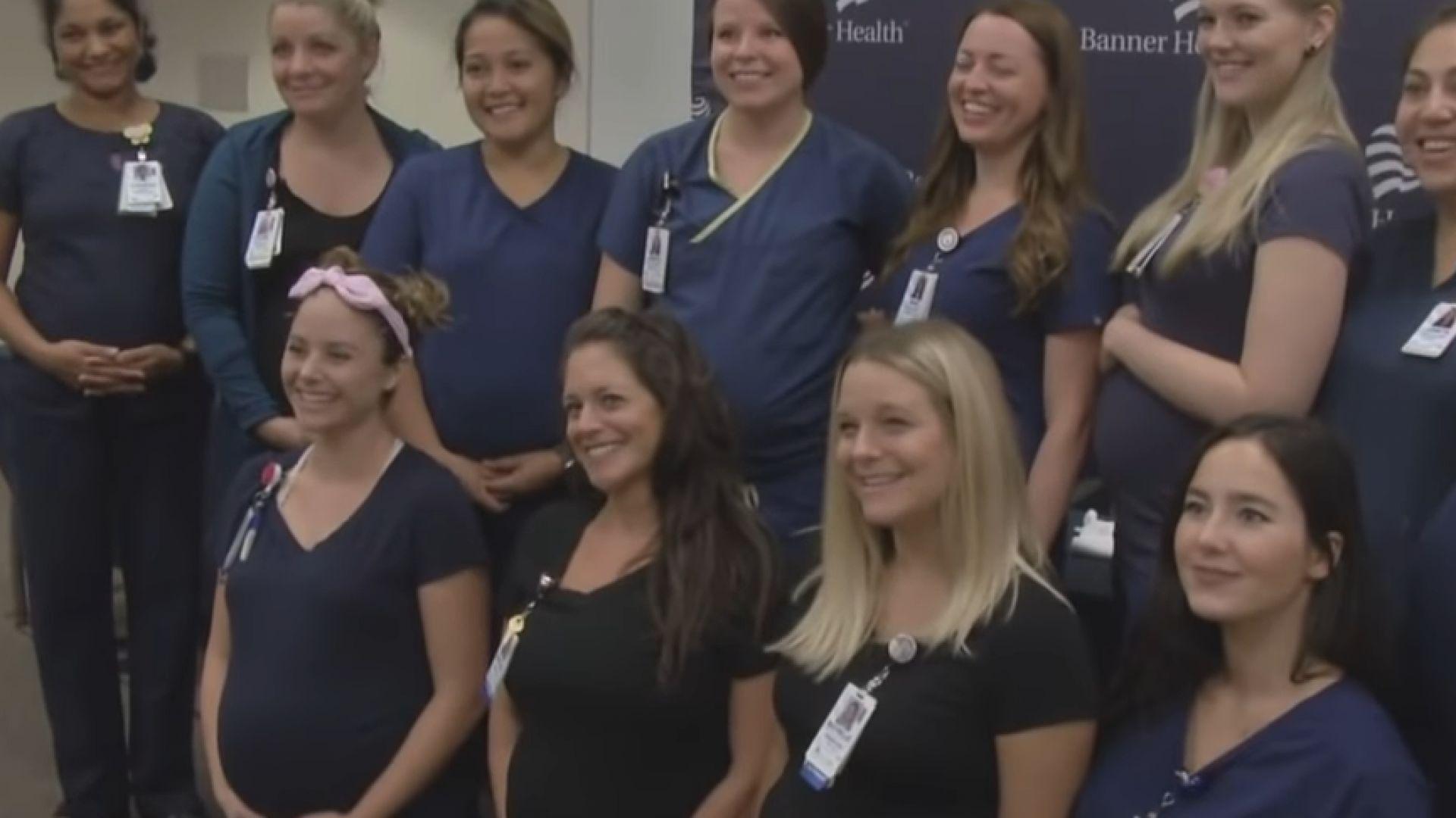 16 медсестри в болница забременели почти едновременно (видео)