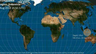 Трус с магнитуд 7.2 разлюля индонезийски остров
