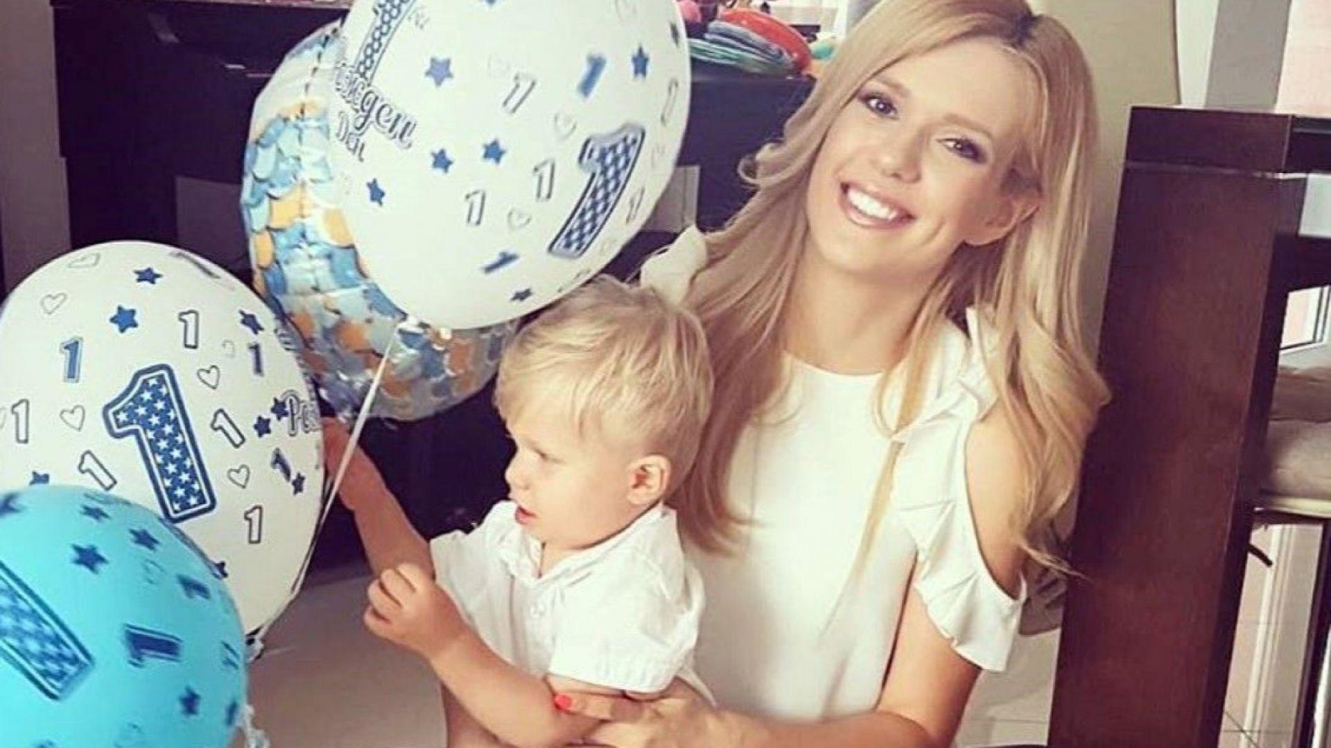 Нели Петкова показа за първи път сина си по случай 1-ия му рожден ден