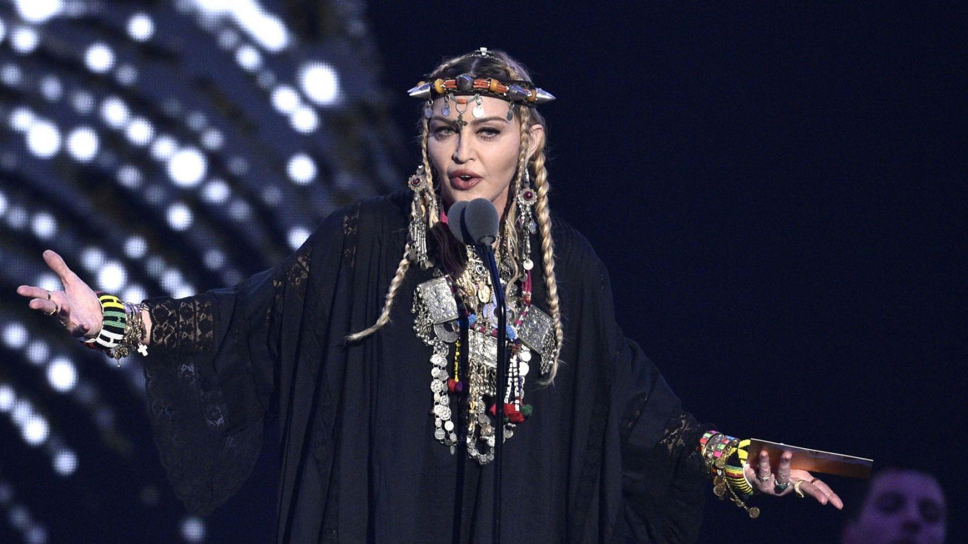 Мадона почете Арета Франклин на видео наградите на MTV