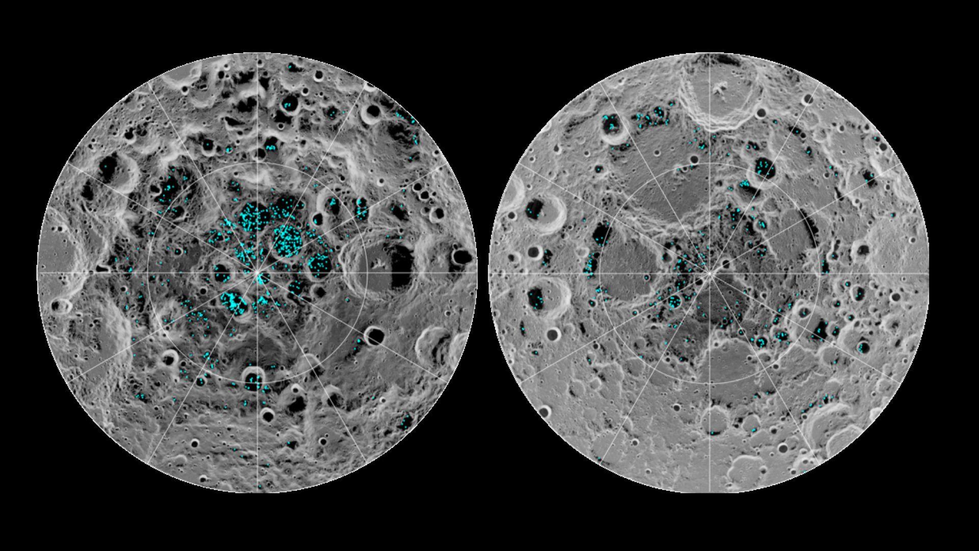 Къде има вода на Луната (снимки)