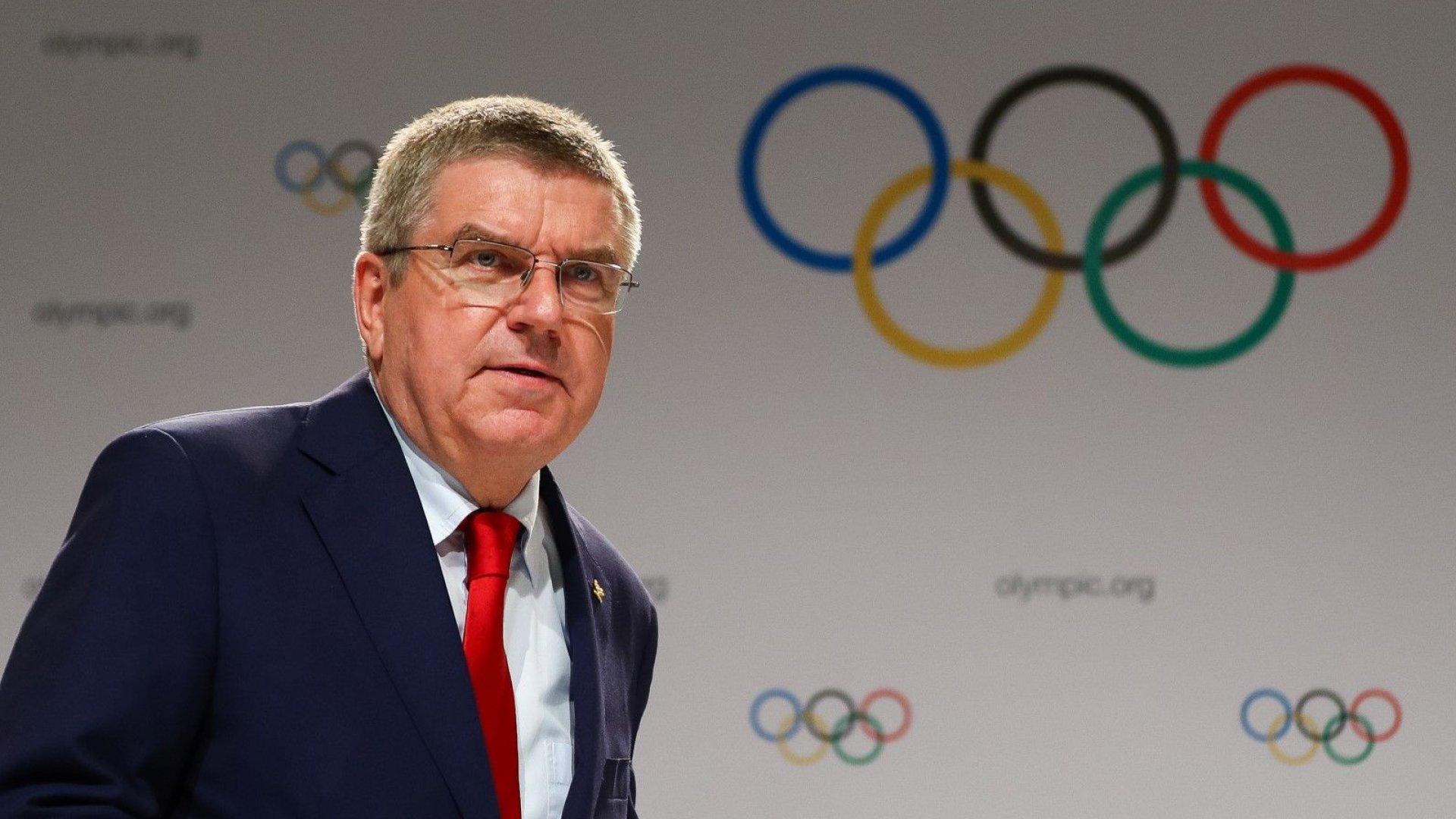 Президентът на МОК с официална позиция след наказанието на Русия