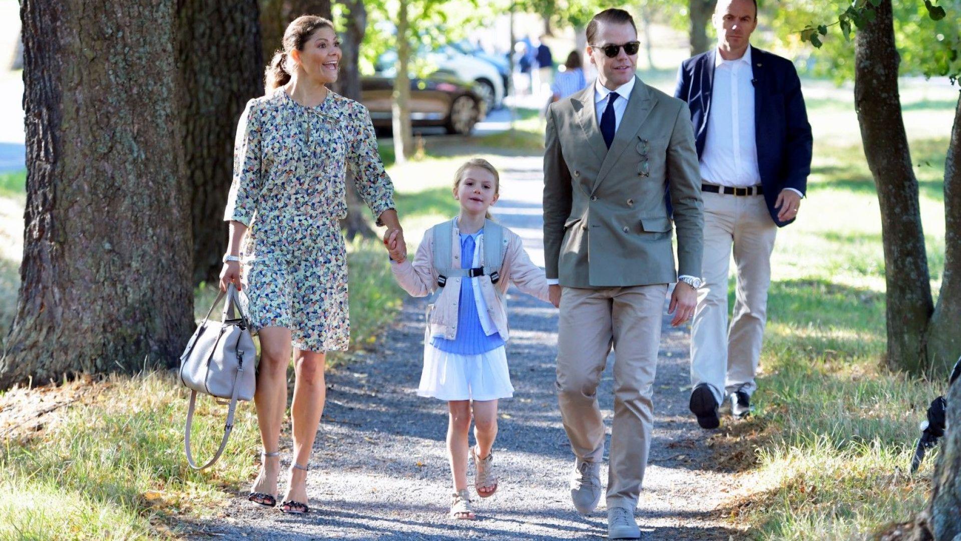 Шведската принцеса Естел тръгна на училище (снимки)
