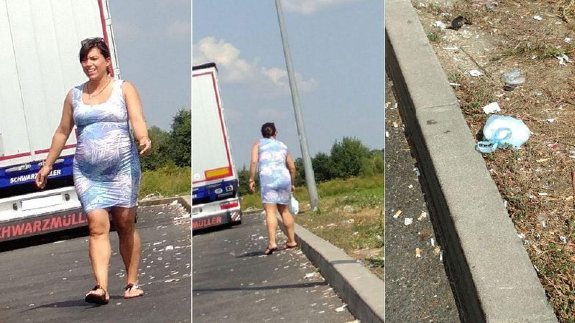 Унгарски туристи в Хърватия снимат как дъщерята на Виктор Орбан хвърля памперс на пътя