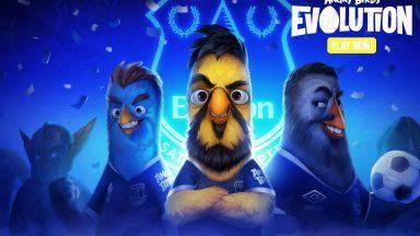 """Звезди на """"Евертън"""" станаха герои в култовата игра Angry birds"""