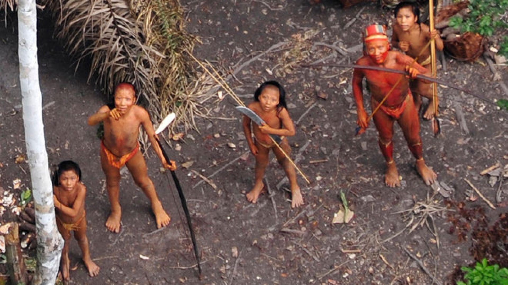 Заснеха за пръв път изолирано племе