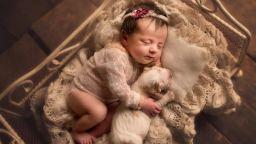 Нежни прегръдки на новородени и домашни любимци в снимките на фотограф от Лондон