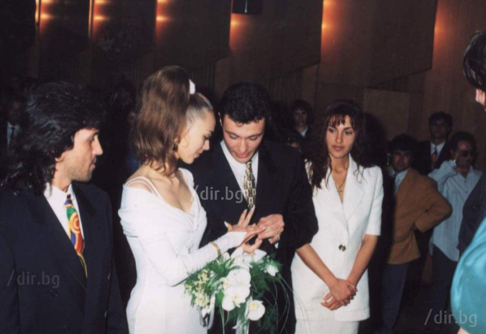 Кумуват Румен Маринов-Нарциса и съпругата му Биана Антонова-Биби.