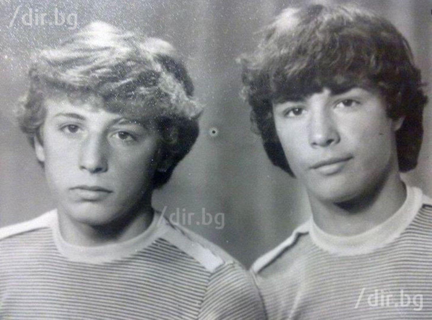 Георги (вдясно) бил буен още от ученическите си години. Батко му не харесвал избухливия му характер.