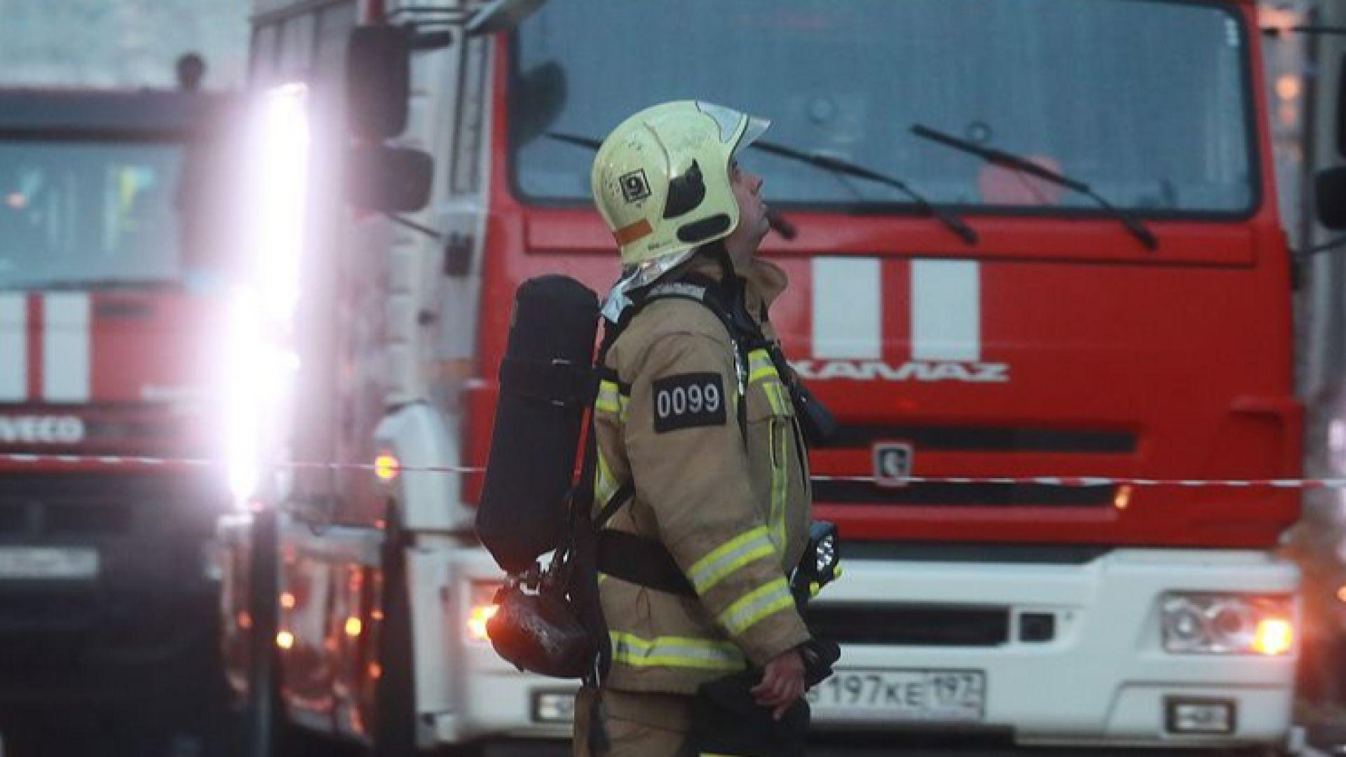 Пожар гори в сградата  на Централната банка на Русия