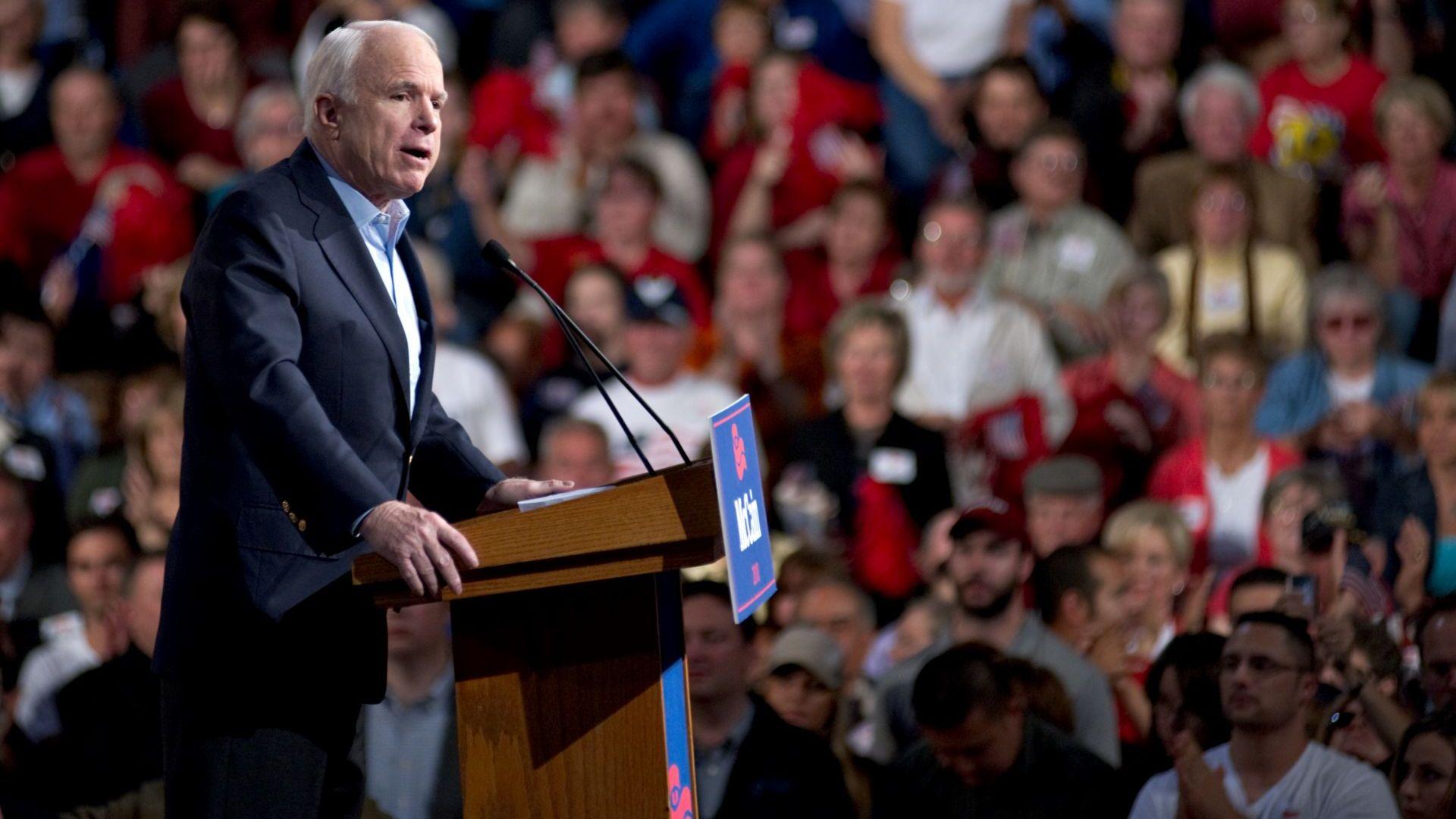 Джон Маккейн прекрати битката с мозъчния тумор