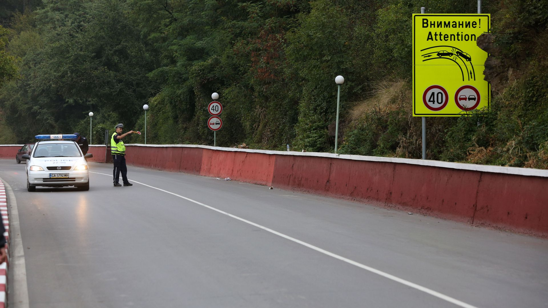 Сцеплението на асфалта на фаталното място край Своге било два пъти по-малко