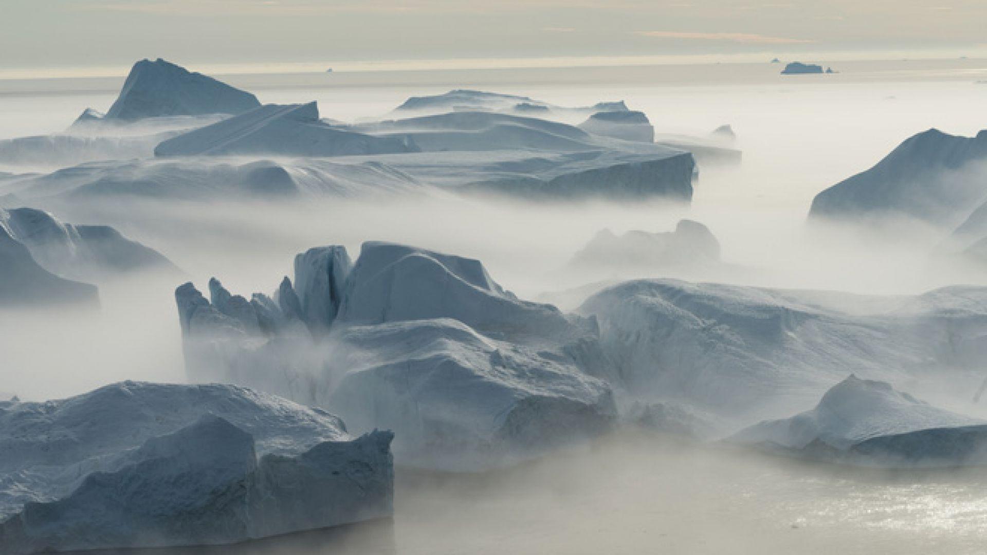 Ледът в Северния ледовит океан се сви до второто най-ниско ниво в историята