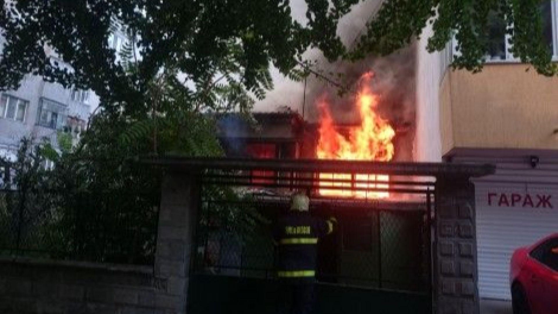 Пожар в къщата на Йордан Йовков във Варна